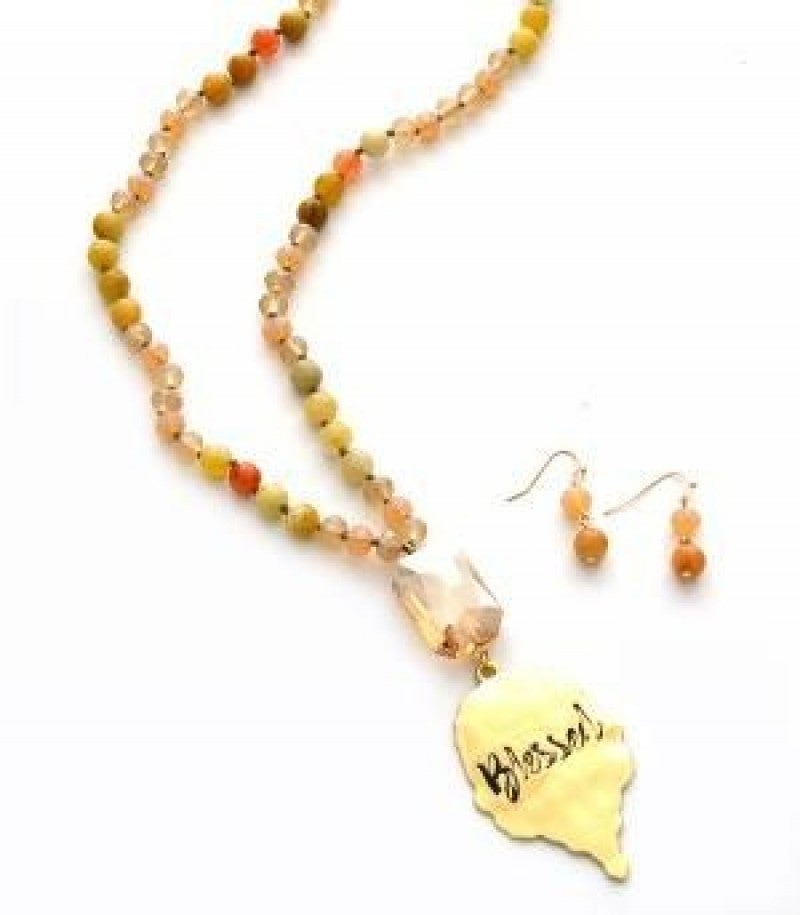 Blessed Beaded Necklace - Gold