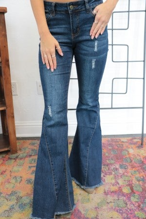 The Nicole Denim Bell Bottoms - Sizes 2-20