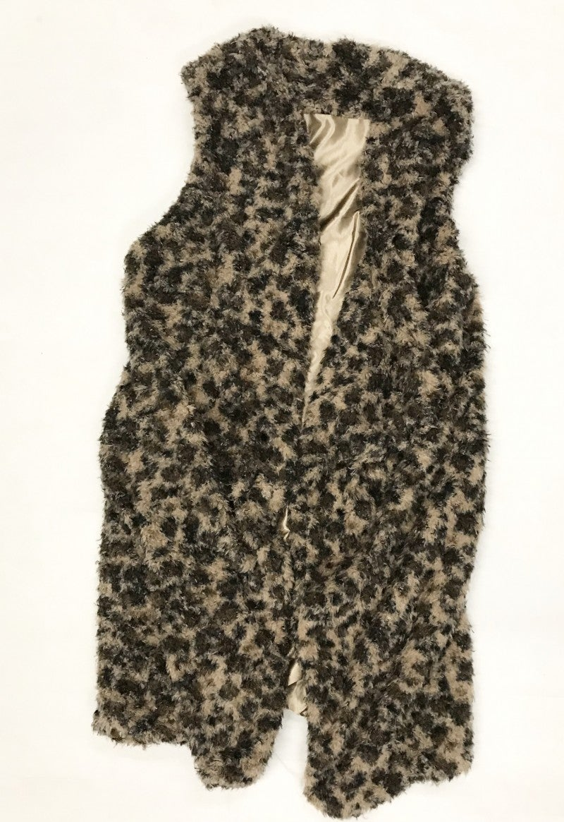 Past Love Leopard Eyelash Waterfall Vest One Size