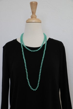 Point Of Perfection Beaded Necklace in Mint