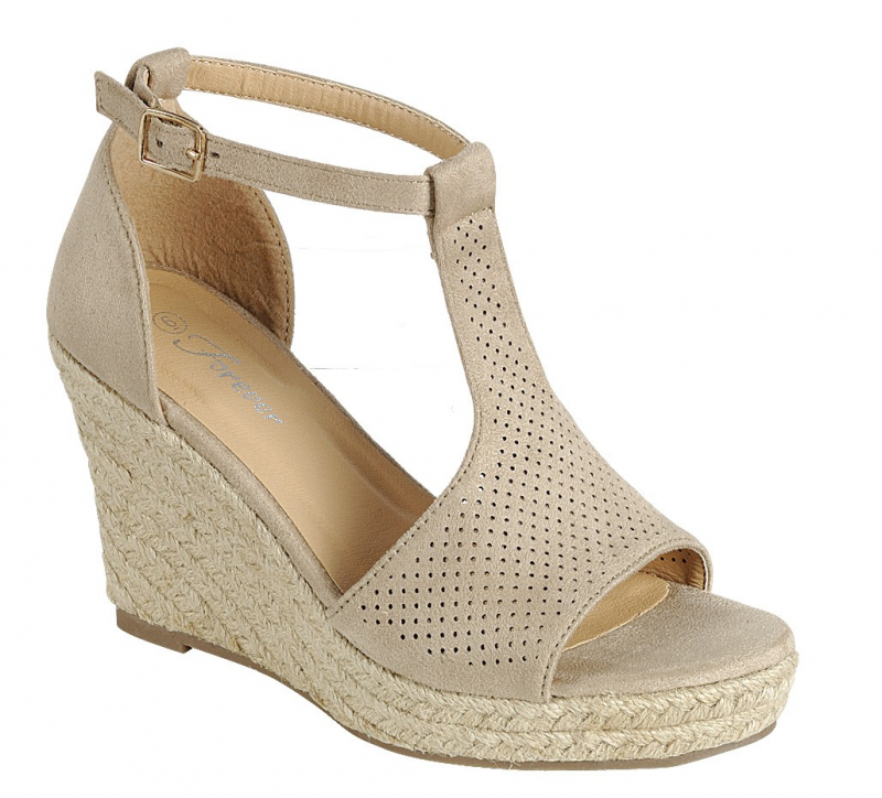 Quit Playing Games Cutout Espadrille Wedge in Multiple Colors  -Sizes 6-10