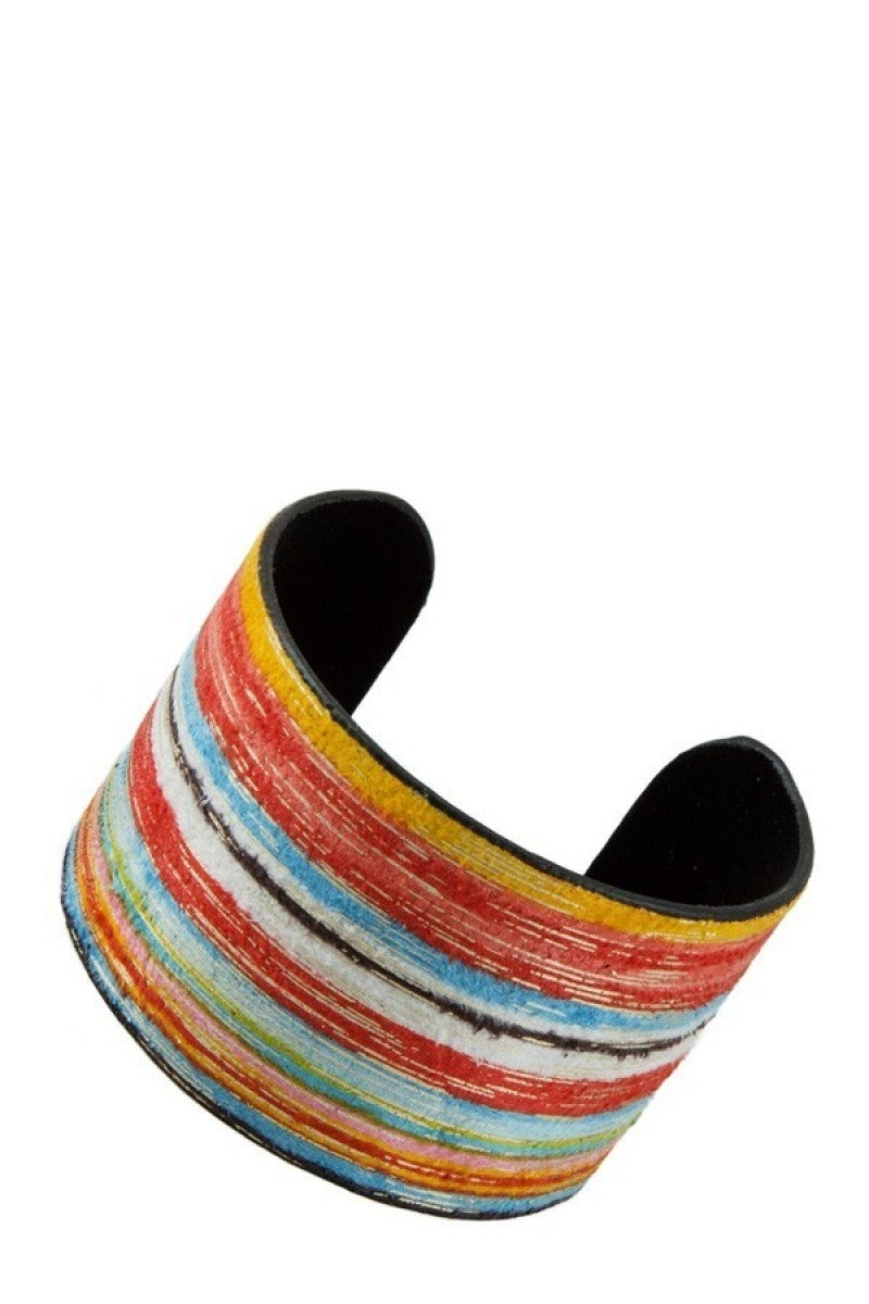 Swing Your Partner Serape Style Bangle In Multicolor