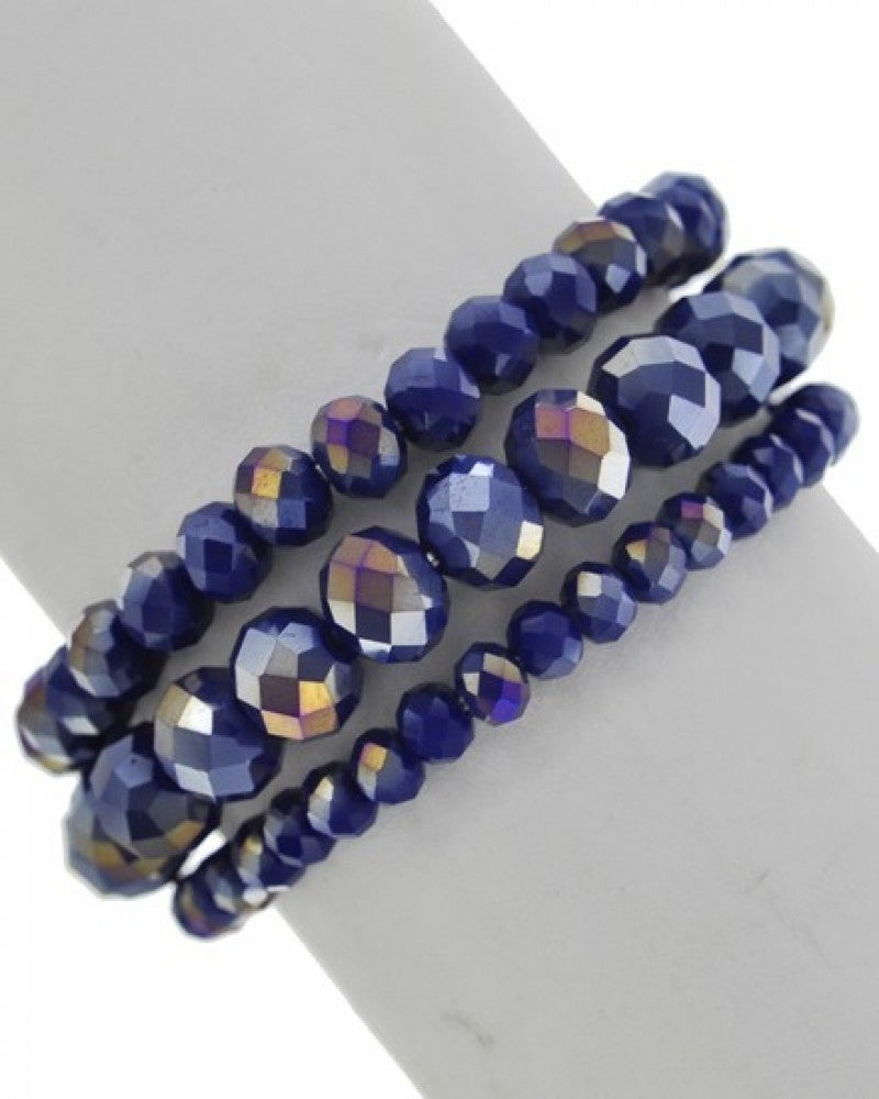 Charm It Up Three Strand Bracelet In Multiple Colors