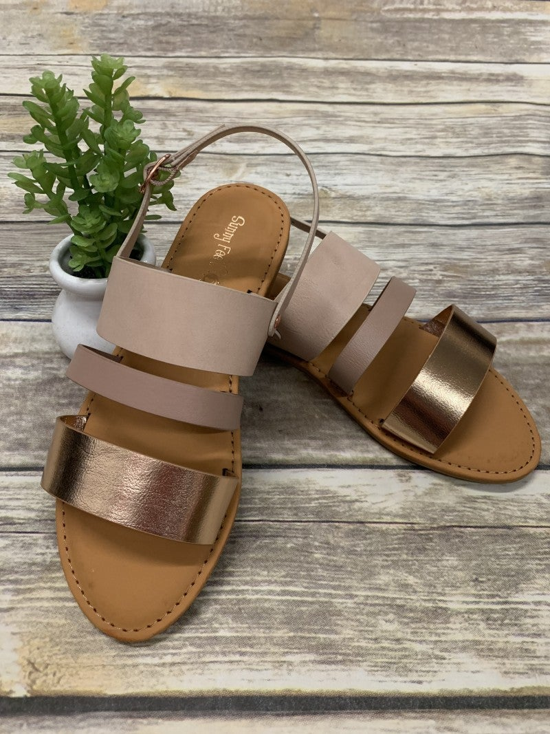 Gone For Good Open Toe Back Strap Sandals In Multiple Colors