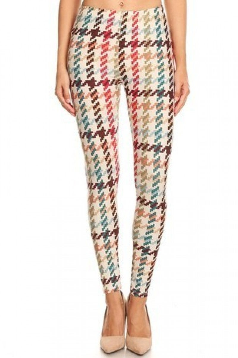 Light Up the Sky Multi Colored Houndsooth Legging