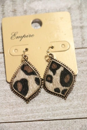 The Cutest Ever Leopard Drop Earrings