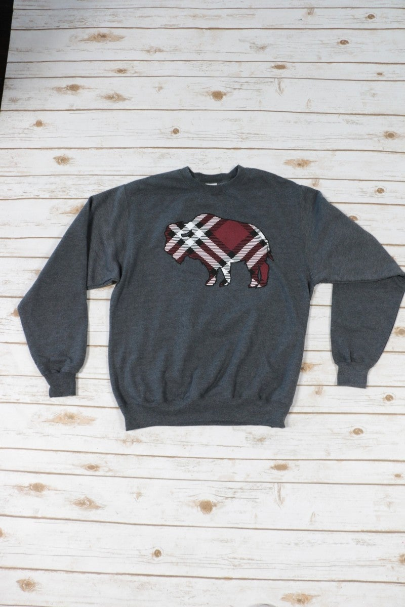 Blazing Buffalo Plaid Sweatshirt - Sizes 4-18