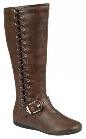 Moving One Step Forward Tall Lace Up Boots In Brown - Sizes 5-10