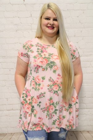 Garden Party Floral Tunic In Multiple Colors - Sizes 12-20