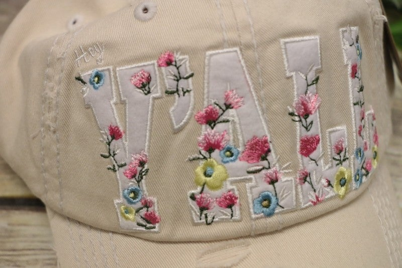 Hey Y'all Floral Hat In Khaki