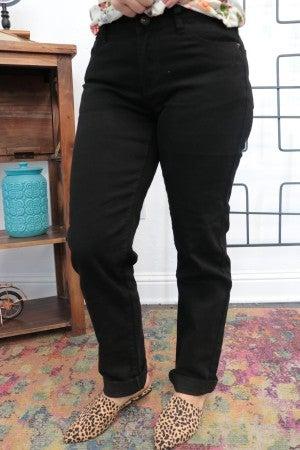 The Hazley Boyfriend Jeans In Black - Sizes 4-20