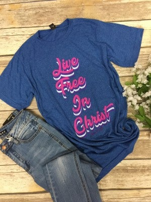 Live Free In Christ June 2019 Tee of the Month - Sizes 4-20***PRE-ORDER***