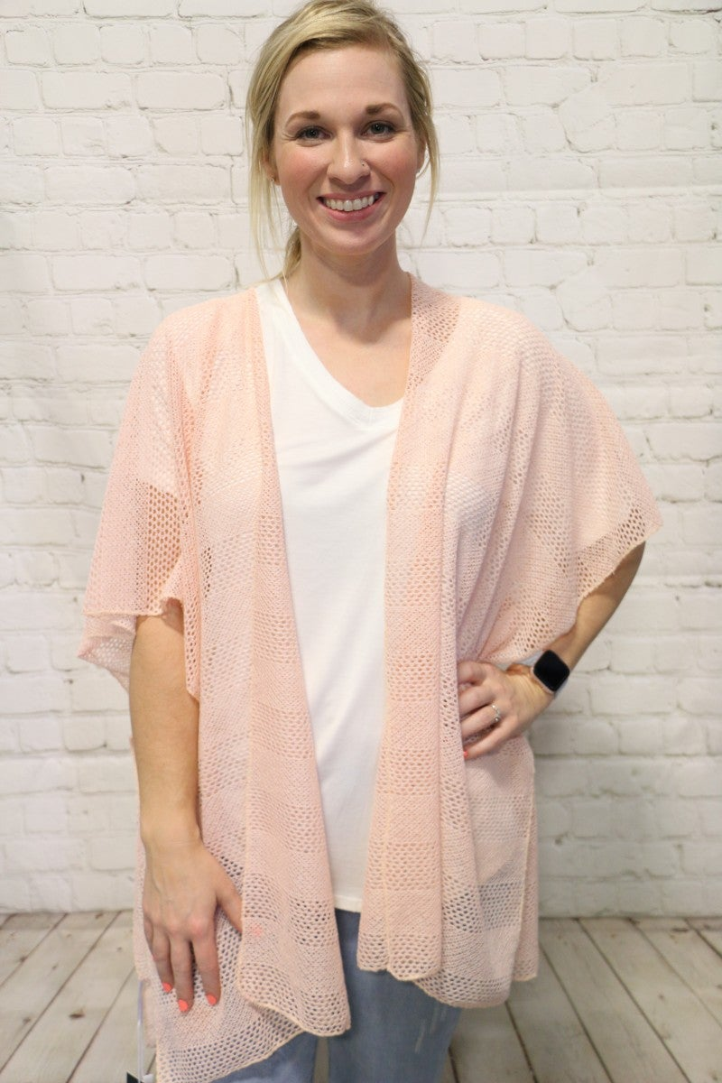 You're The One Netted Kimono In Multiple Colors- One Size *Final Sale*