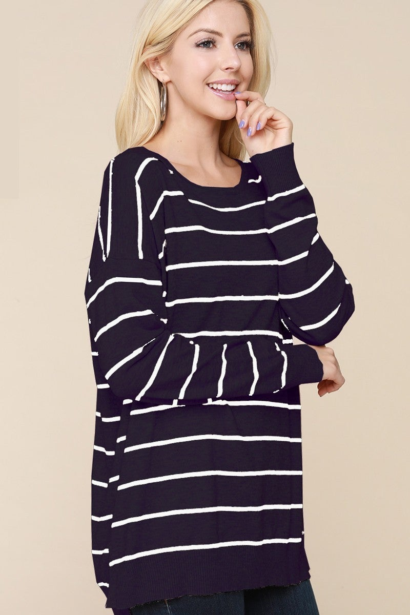 Super Blessed Striped Sweater in Multiple Colors Sizes 12-20