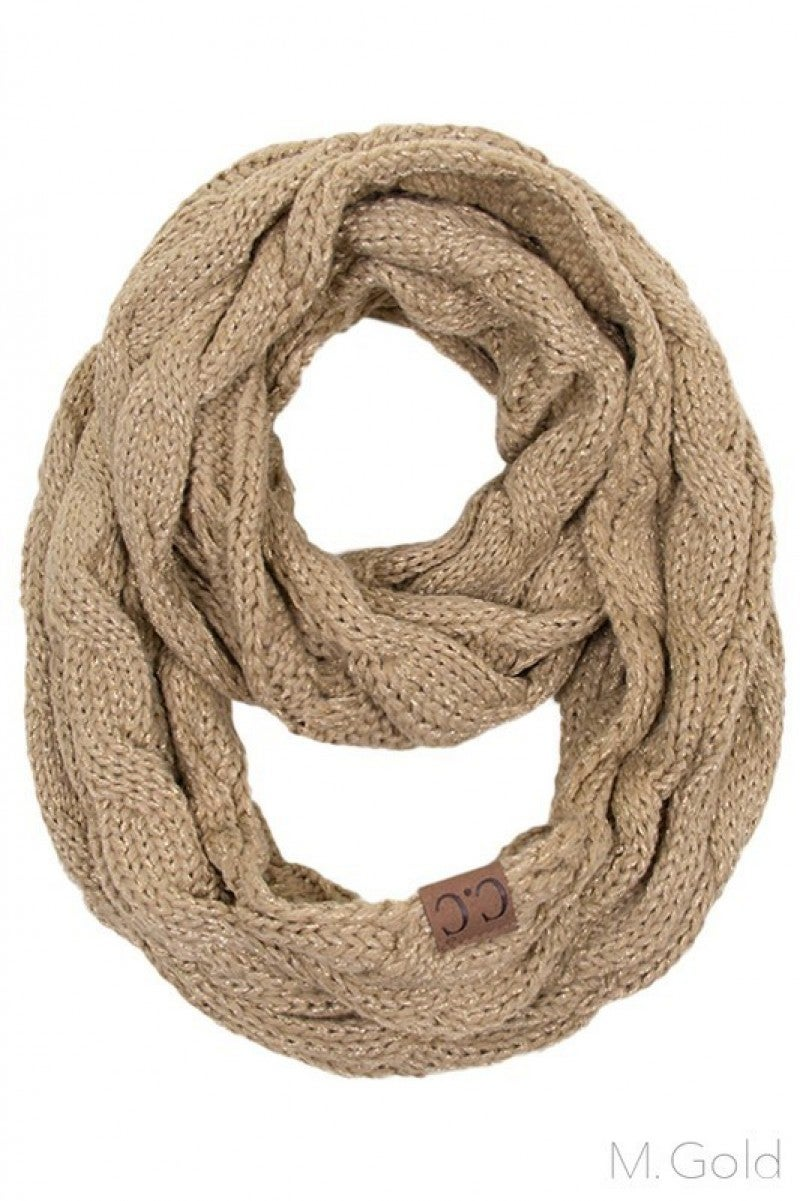 Thankful For You Metallic Infinity CC Scarf- Multiple Colors