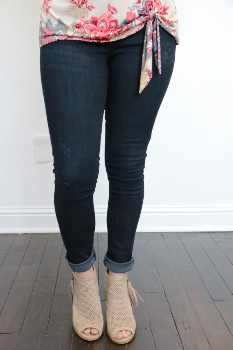 The Kalyn Skinny Dark Denim Jean - Sizes 0-15
