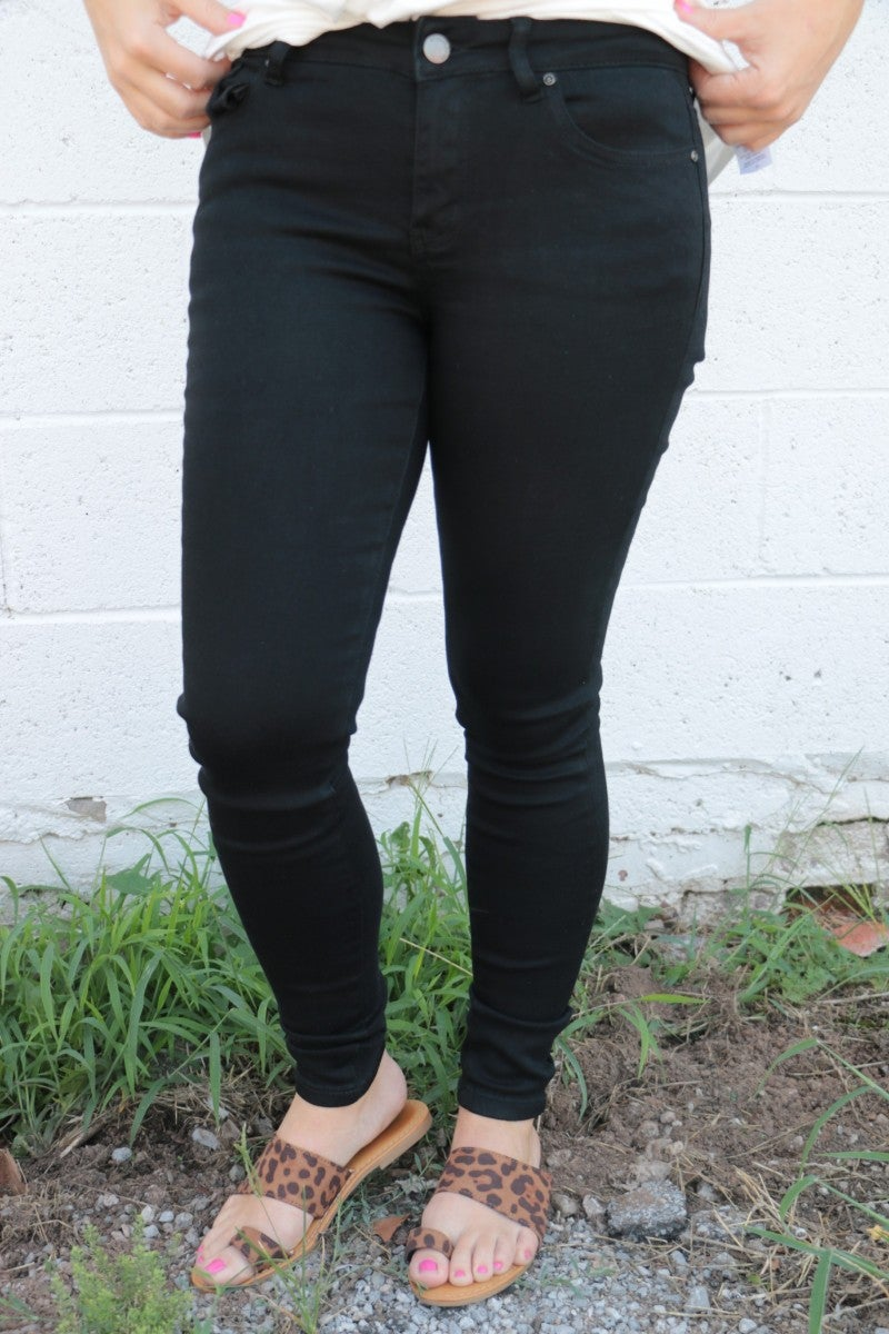 The Rose Black Denim Body Shaping Jeans - Sizes 1-15