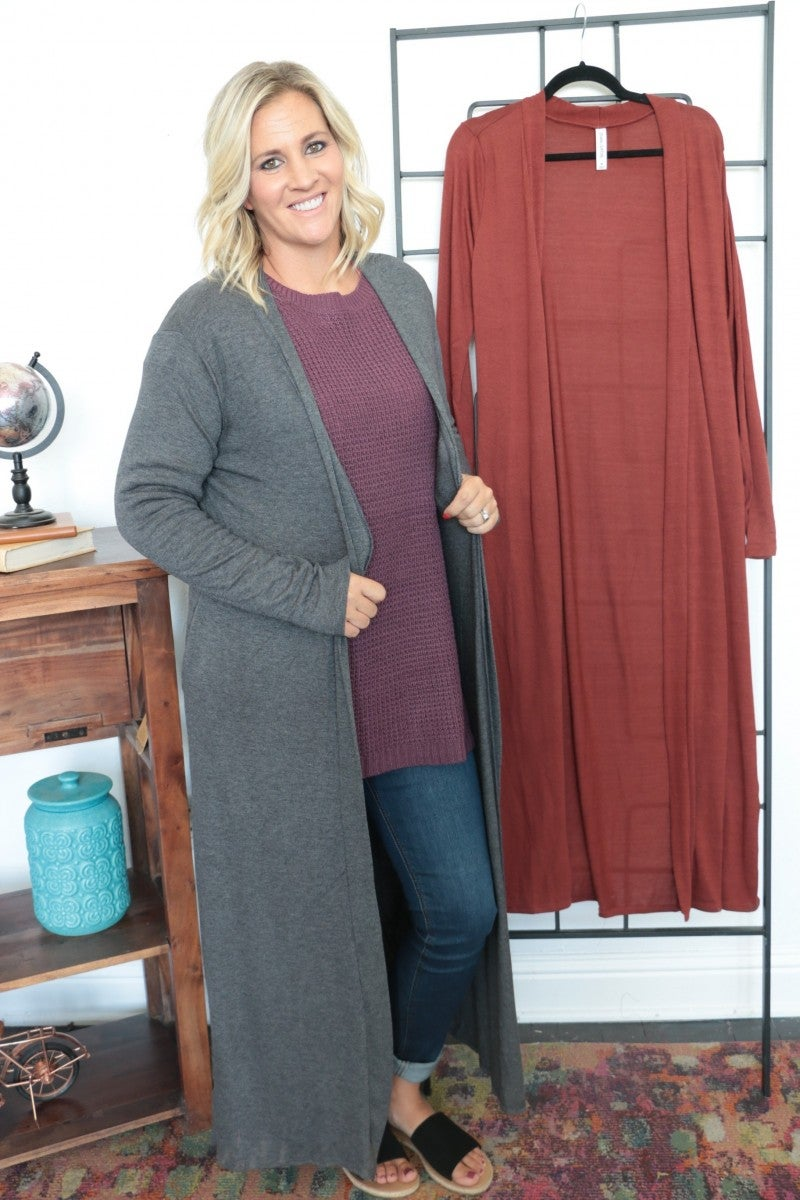Best Of Luck Long Duster In Multiple Colors- Sizes 4-12