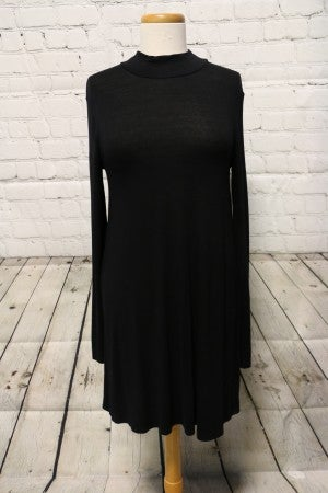 Heart Like David Long Sleeve Black Dress - Size Medium