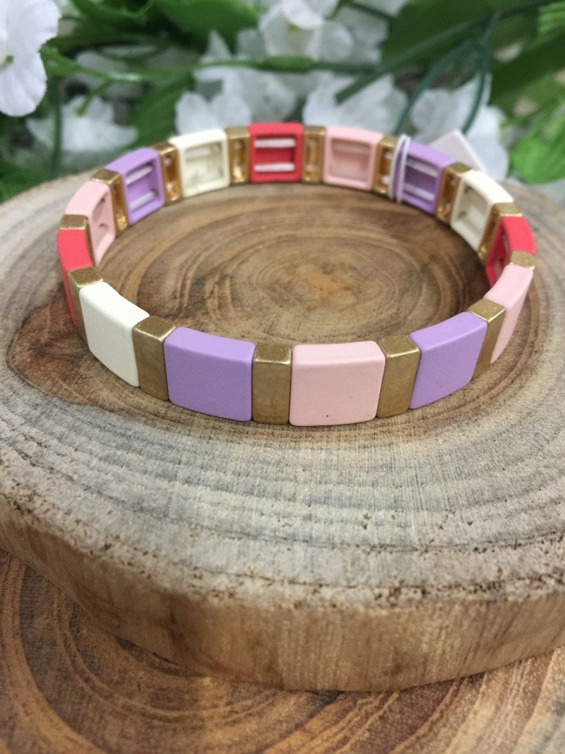 Oh Happy Days Stretch Bracelet In Multicolor