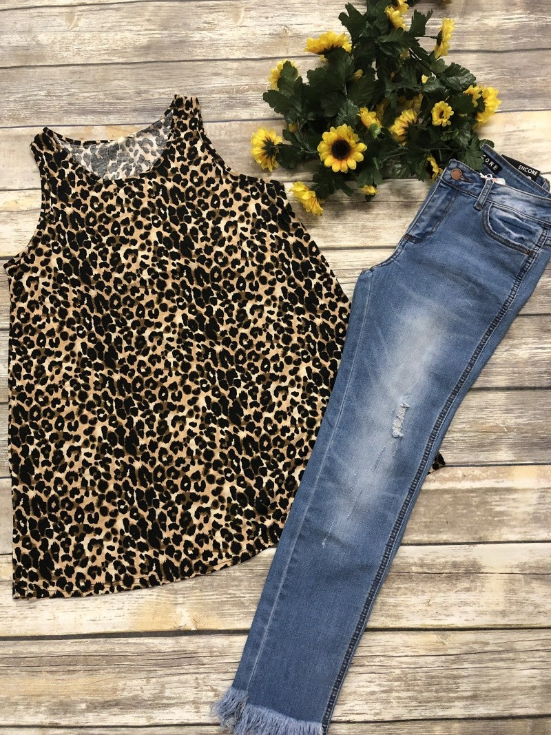 Daydream Believer Leopard Sleeveless Top - Sizes 4-20