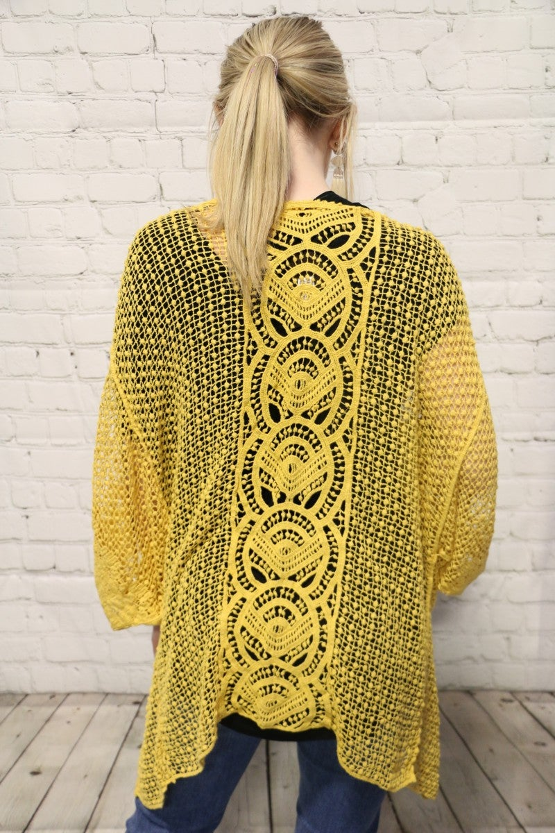 Time To Shine Crochet Kimono In Multiple Colors- One Size Fits Most