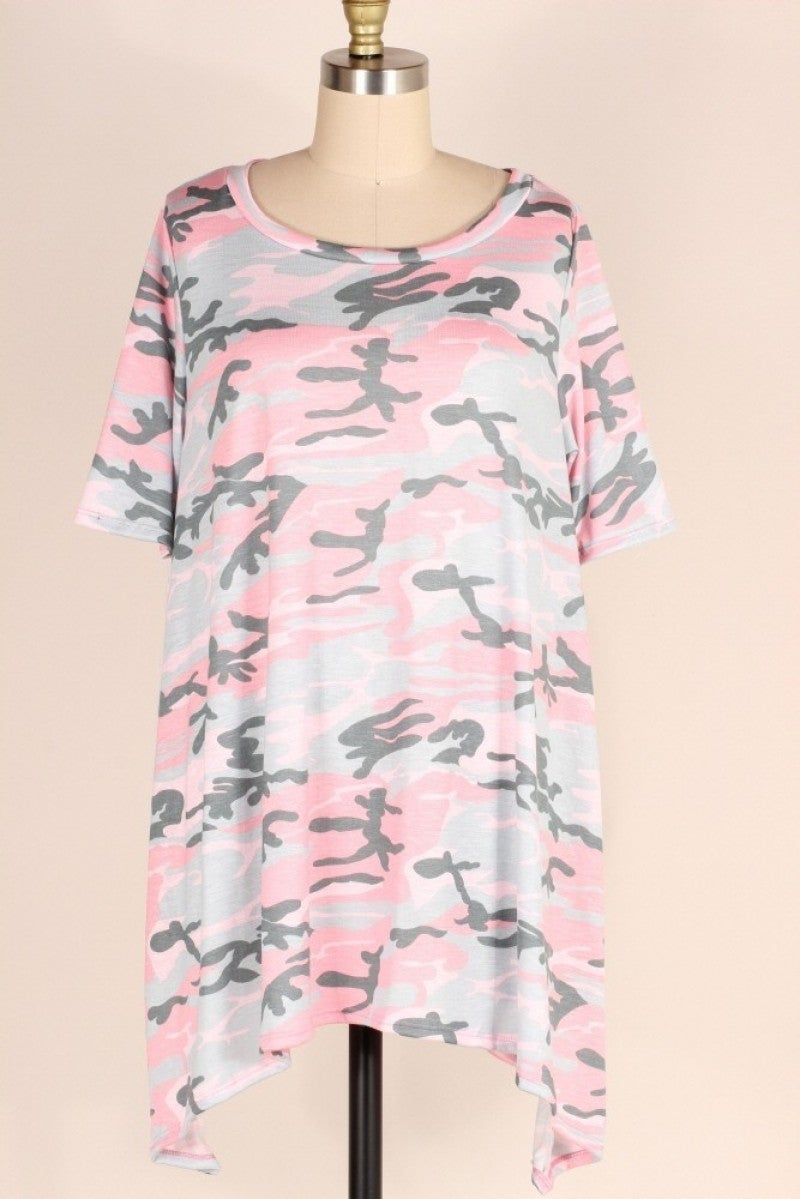 She's Got It All Pink Camo Top - Sizes 12-20