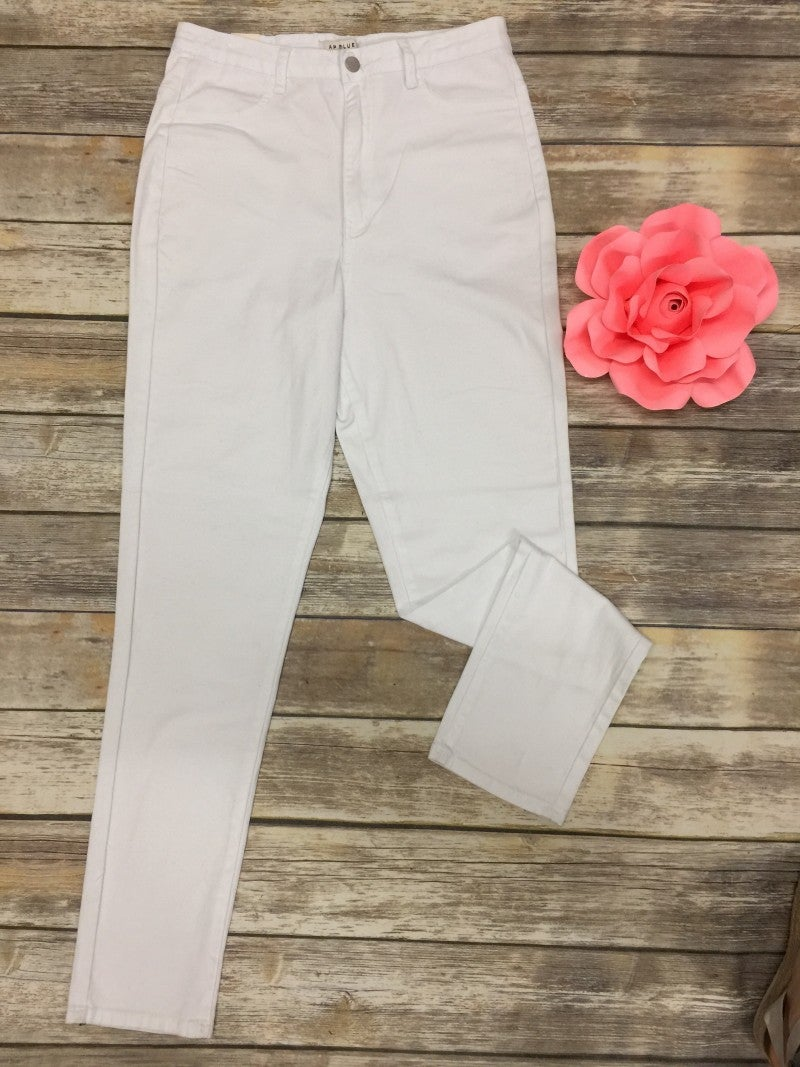 The Claire White Super Stretchy Skinny Jeans - Sizes 12-20