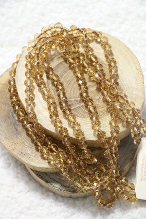 Point Of Perfection Beaded Necklace in Honey