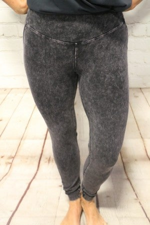 Free To Be Me Mineral Washed Leggings- Sizes 4-20