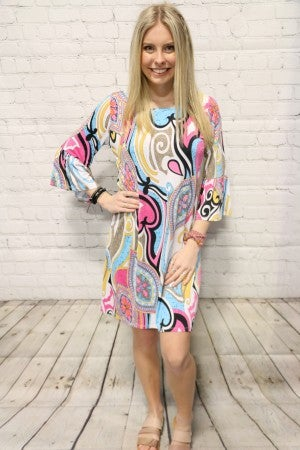 Ready to Celebrate Fun Print Dress - Sizes 4-20