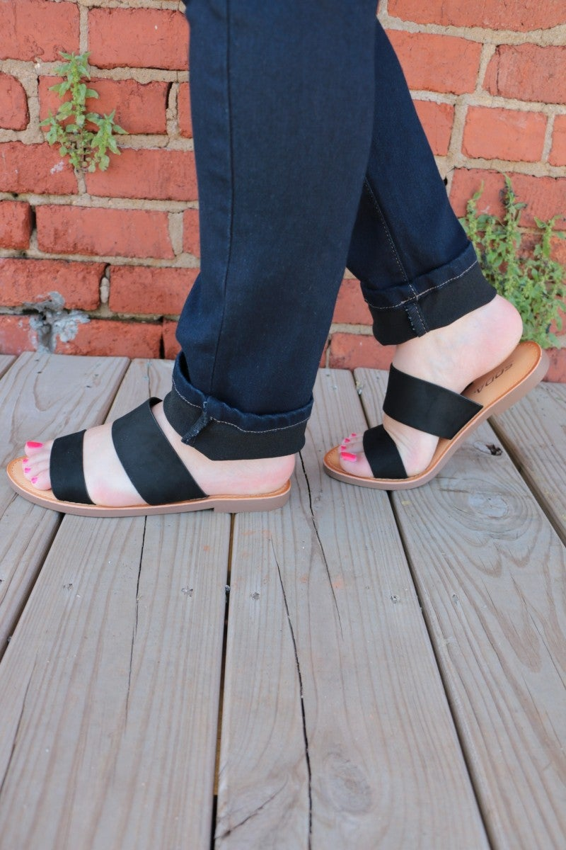 Walk This Way Double Strap Sandals in Multiple Colors