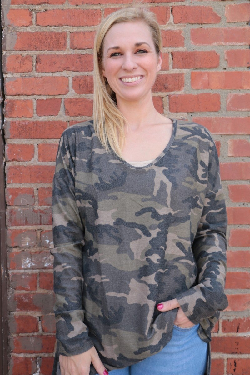 Whatever It Takes Camo Long Sleeve Top