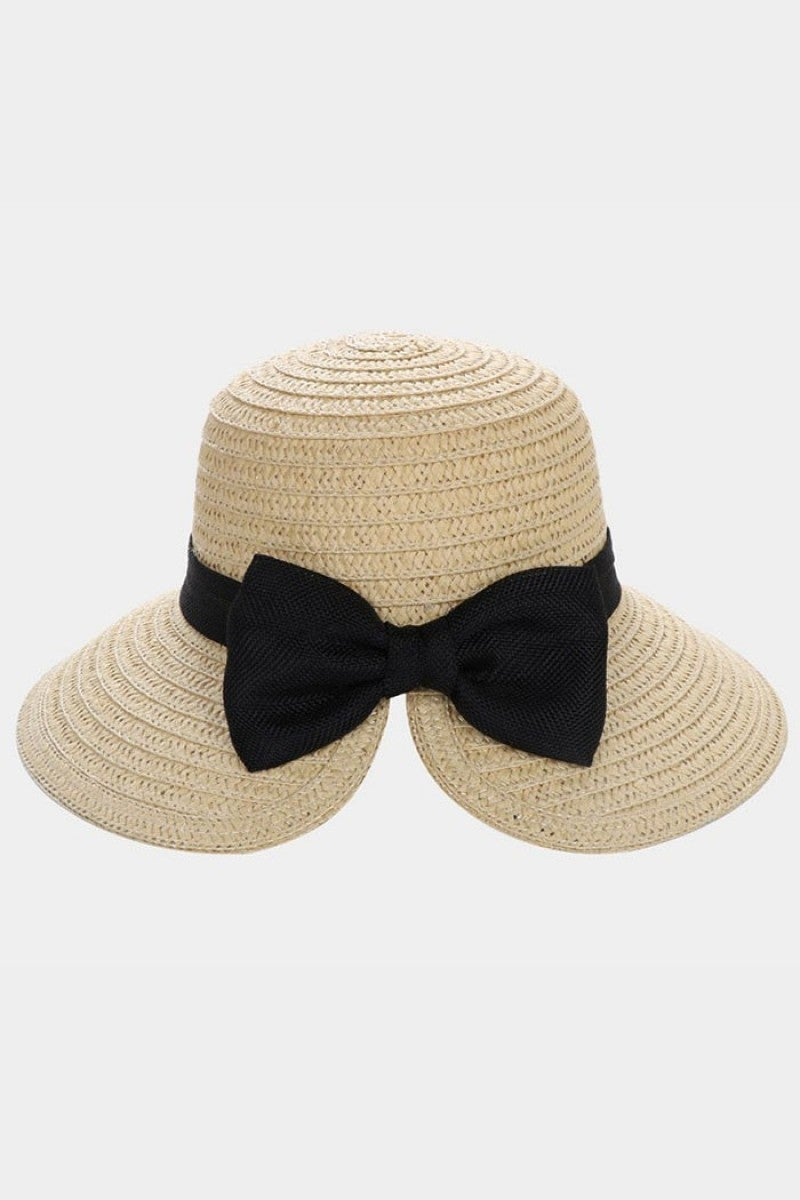 Super Cute Straw Sun Hat with Bow