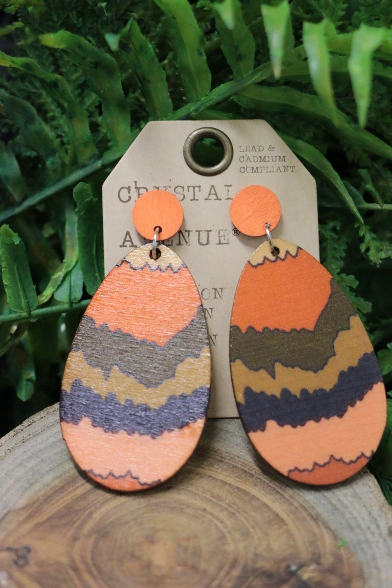 Tour Grand Canyon Orange Post Back Earrings