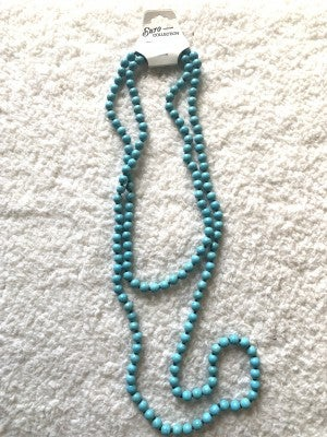 Country Living Long Turquoise Beaded Necklace