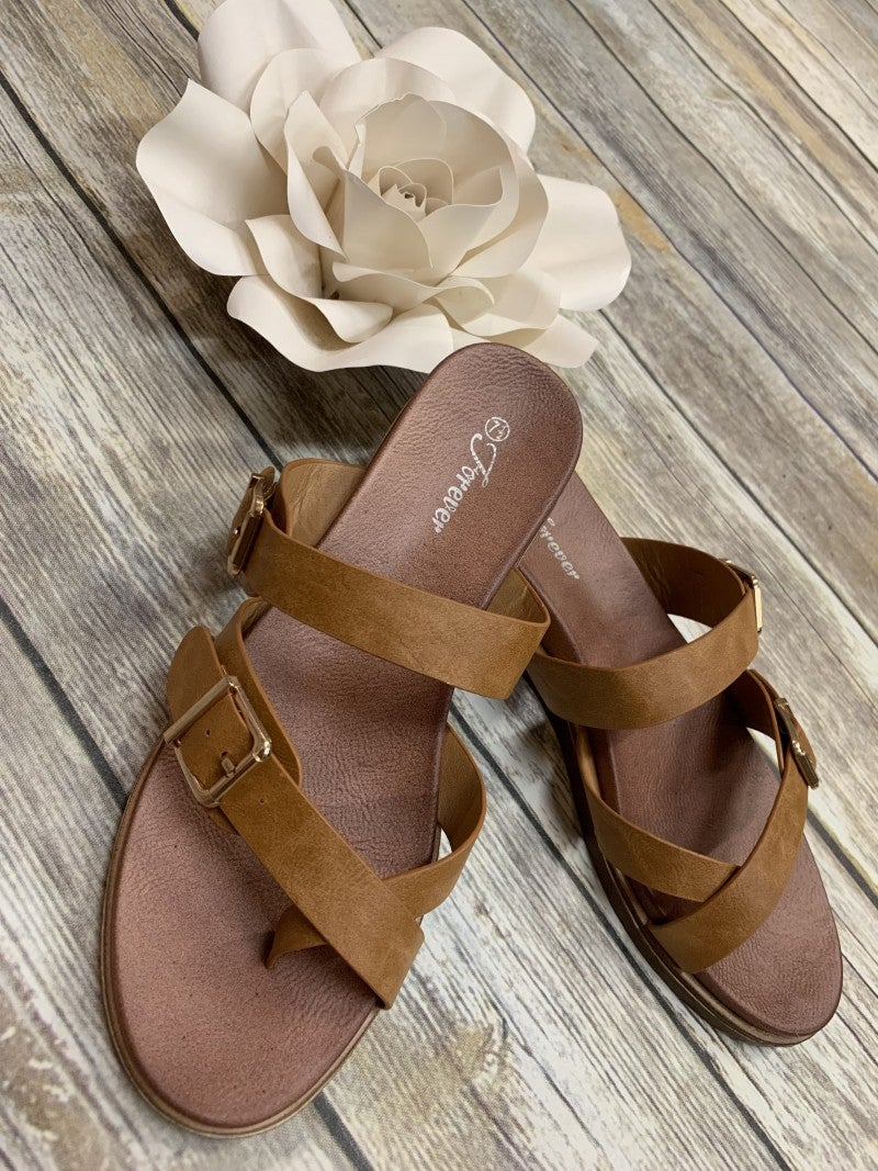 Walk This Way Strappy Sandals in Tan