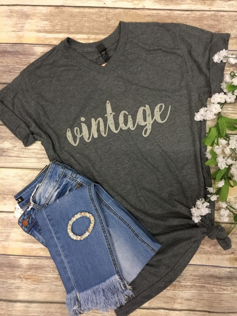 Completely Vintage Graphic Tee-Multiple Colors- Sizes 4-20