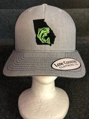MEN'S BLACK/GREY STATE OF GA GREEN FISH HAT