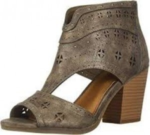 SUGAR STONE HEEL TRIBAL METALLIC
