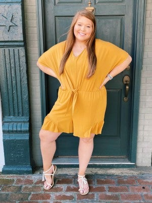 PLUS spin Bow Romper