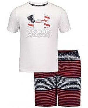 UNDER ARMOUR FLAG SWIM TRUNKS YOUTH SIZE (Shorts only)