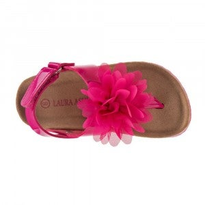 kids laura ashley fuchsia patent sandal