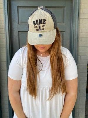 ORIGINAL BRAND HATS ROME GEORGIA BLACK/TAN