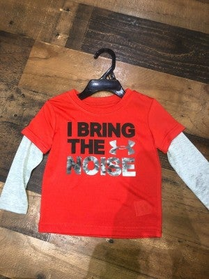 """red under armor """"bring the noise """" shirt"""