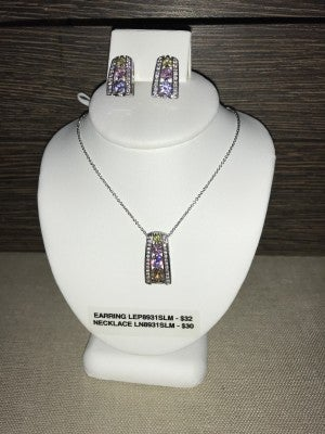 CZIRE CZ COLORED STONES NECKLACE OR EARRINGS (SOLD SEPARATELY)