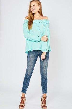 Off-shoulder top (3 colors)