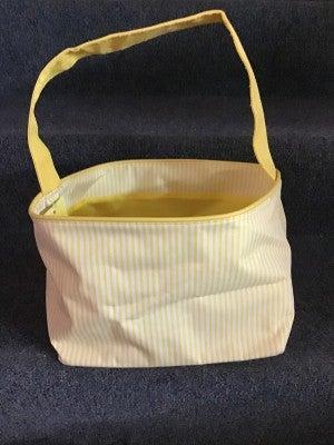 WB Yellow Seersucker Basket