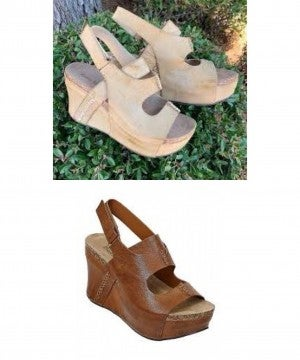 PIERRE DUMAS HESTER-10 WEDGES (2 colors)