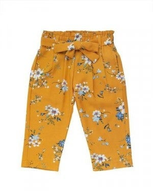 MUSTARD FLORAL PANTS